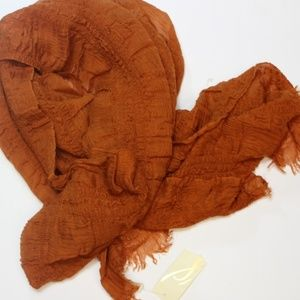 Collection XIIX Ruched Scarf Autumn Orange